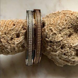 Fossil Swarovski Crystal Bangle Bracelets